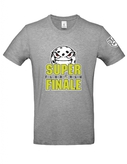 T-shirt grey melange with ball logo SFF